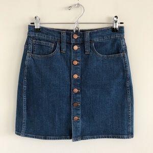 Madewell Stretch Denim Straight Mini Skirt Arroyo